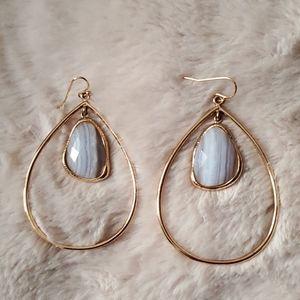 Marcia Moran Hoop Earrings 18K Gold Plated